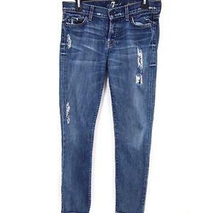 7 All Mankind Jeans Josefina Boyfriend Distressed
